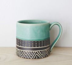 This, or really any Jessica Wertz mug or oil jug - the black and white is great too.
