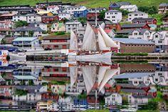 Refection - Dragin, Klaksvík, Faroe Islands by Jóan Petur Olsen