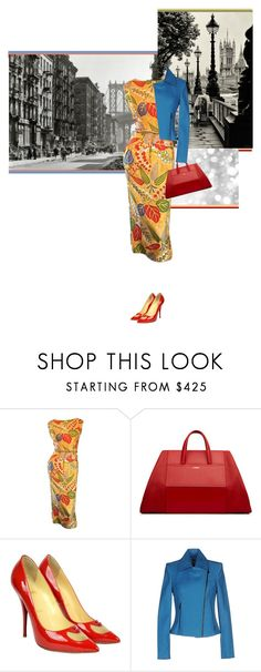 """""""Don't Mind If I Do"""" by paperdollsq ❤ liked on Polyvore featuring Adele Simpson, La Perla, Christian Louboutin and L'Agence"""