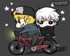 Hide & Kaneki ♥ | Tokyo Ghoul | By: Ritsunekohoneybee. How episode 1 should have ended.