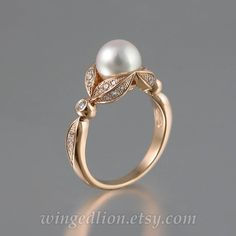 Pearl Jewelry, Bridal Jewelry, Gemstone Jewelry, Gold Jewelry, Fine Jewelry, Vintage Oval Engagement Rings, Diamond Wedding Rings, Wedding Ring Bands, Gold Wedding
