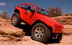 At the 2009 SEMA Show Chrysler will showcase four Mopar image vehicles, including a Dodge Challenger, a Jeep Wrangler that transforms into a mobile campsite, a luxury Dodge Ram 1500 and an extreme Jeep Wrangler with tires. Wrangler Jeep, Jeep Jk, Jeep Wrangler Unlimited, Jeep Wranglers, Mopar, Moab Jeep, Dodge, Convertible, Easter Jeep Safari