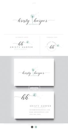 dandelion logo branding 1 initials businesscards  simple modern feminine branding- logo Identity for Children and family photographer
