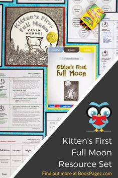 Kitten's First Full Moon Moon Activities, Preschool Christmas Activities, Preschool Books, Preschool Lessons, 1st Grade Science, Teaching Science, Teaching Reading, Teaching Tools, Learning