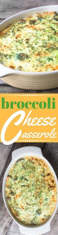 Broccoli Cheese Casserole made lighter and healthier, entirely from scratch, no…