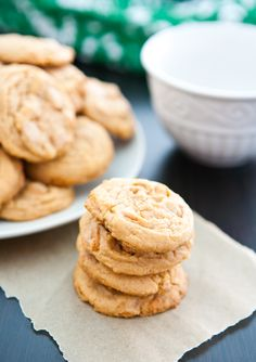 Butterscotch Pudding Cookies {OXO Giveaway} by EclecticRecipes.com #recipe