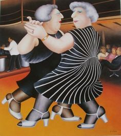 Buy Beryl Cook Collectors Limited Editions, signed Lithos, and signed silkscreens. Gallery 105 in Hertfordshire for the definitive Beryl Cook collection Renoir, Naive, Beryl Cook, Plus Size Art, Shall We Dance, English Artists, Fat Women, Curvy Women, Silk Screen Printing