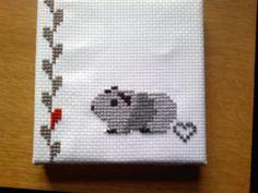 The cutest guinea pig cross stitch. By piggy mom @Mylene Erpelo Bruun Andersen