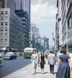 Manhattan: 5th Avenue toward 48th Street (1955)