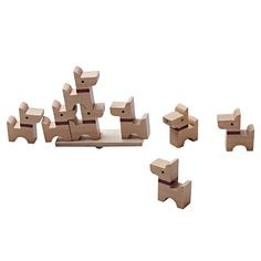 See how high you can stack these charming scottie dogs whilst keeping the seesaw balanced with this adorable wooden game. Comes with 10 scottie dog pieces.