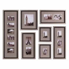 Massena Matte Black Photo Frame Collage from Overstock, $393.80