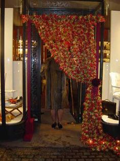 curtain of flowers framing a boutique entrance by Robbie Honey… Flower Frame, Flower Wall, My Flower, Gloriosa Lily, Rose Curtains, Flower Curtain, Burgundy Flowers, Amazing Spaces, Event Decor