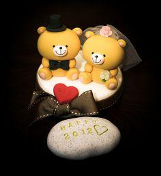 Bear Bride And Groom Cake Topper