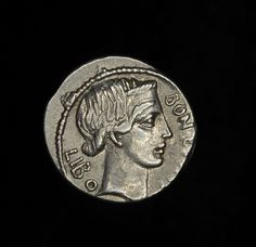 Ancient Roman Art | Ancient Roman Republic Silver Denarius Coin OF Lucius Scribonius Libo ...