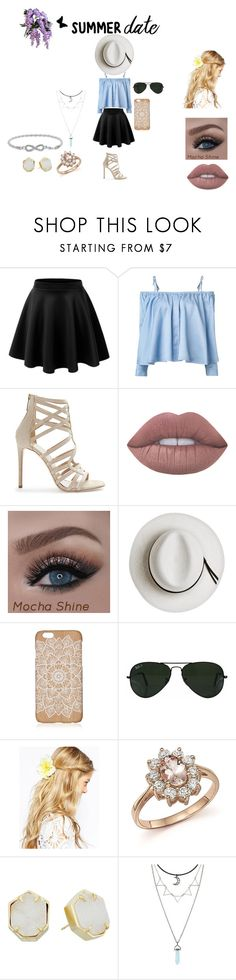 """Summer Date"" by alina-kichuk on Polyvore featuring beauty, Sandy Liang, Tamara Mellon, Lime Crime, Calypso Private Label, Ray-Ban, ASOS, Bloomingdale's, Kendra Scott and summerdate"