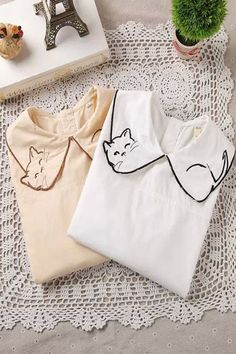 Cute Cat Collar Blouse