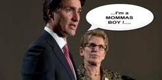 Trudeau, always been a Momma's Boy #canpoli