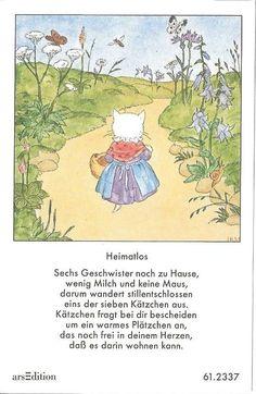 Fleißbildchen - Original Ida Bohatta - ars 61.2337 - Heimatlos