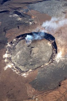Hawaii - active volcano from helicopter