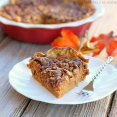 Streusel Topped Pumpkin Pie | The Girl Who Ate Everything