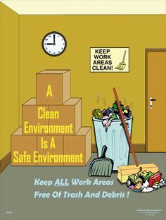 A Clean Environment Safety Poster