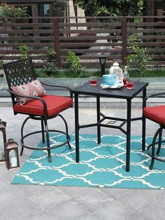 Small Patio Plastic Table with Chairs Walmart . Small Patio Plastic Table with Chairs Walmart . Plastic Garden Furniture Makes Sense for Your Outdoor Patio Bar Stools, Swivel Bar Stools, Patio Dining, Plastic Garden Furniture, Outdoor Furniture Sets, Outdoor Decor, Front Yard Patio, Front Porch, Hinged Patio Doors