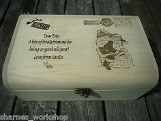 Image result for wooden christmas eve box