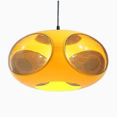 Gelbe Space Age UFO Lampe von Luigi Colani, 1970er Jetzt bestellen unter: https://moebel.ladendirekt.de/lampen/deckenleuchten/deckenlampen/?uid=e39d8406-61fe-51b0-9317-2ec00331a18f&utm_source=pinterest&utm_medium=pin&utm_campaign=boards #deckenleuchten #lampen #deckenlampen Bild Quelle: pamono.com
