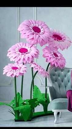 Paper Flowers Craft, Large Paper Flowers, Giant Paper Flowers, Fake Flowers, Artificial Flowers, Fabric Flowers, Crochet Flower Tutorial, Paper Flower Tutorial, Crochet Flowers