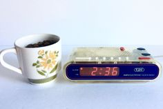 A personal favorite from my Etsy shop https://www.etsy.com/listing/466401194/vintage-alarm-clock-see-thru-plastic-old
