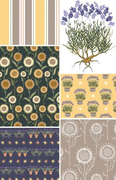 Michele Kellett. floral wallpapers patterns.