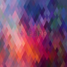 幾何学的図形、菱形のパターン。スペクトル効果の流れを持つテクスチャー幾何学的な背景。