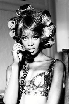 Bombshell Curls for Pennies! (Naomi Campbell)  #makeup #beauty #hairstyle #curlyhair #longhair #shorthair #howto #hairdo - bellashoot.com