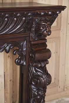 Stunning Louis XII Fireplace Mantel/Surround | From a unique collection of antique and modern fireplaces and mantels at http://www.1stdibs.com/furniture/building-garden/fireplaces-mantels/