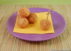 Crocchette di riso al gorgonzola