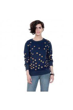 Feel the perfect spice of this season with this blue sweatshirt for women #womensfashion #sweatshirt #womenssweatshirt