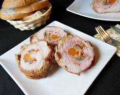 Reteta culinara Rulada de porc cu ciuperci din categoria Porc. Specific Romania. Cum sa faci Rulada de porc cu ciuperci Romanian Food, Pork Recipes, French Toast, Muffin, Food And Drink, Cooking, Breakfast, Pork, Muffins