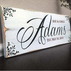 Family Established Wedding Sign, 18x7