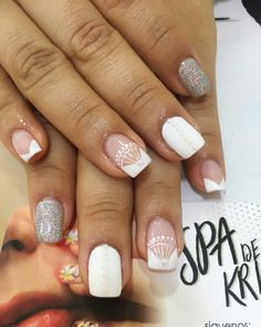Spa, Beauty, Frases, Makeup Artists, Short Nails, Nail Manicure, French Tips, Fingernail Designs, Hands
