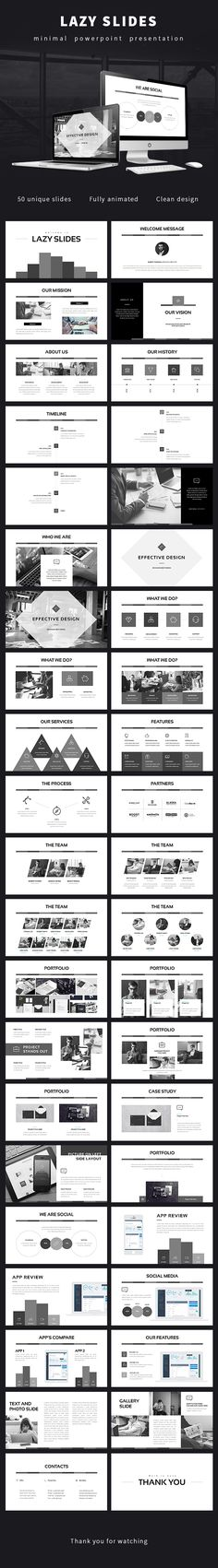 Lazy Slides - Powerpoint Presentation  #creative #entrepreneur • Download ➝…