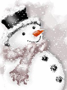 Imágenes de Navidad   Muñecos de Nieve - Gifs Animados - 1000 Gifs
