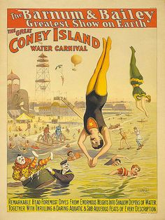1898 - The Barnum & Bailey Greatest Show on Earth; The Great Coney Island Water Carnival (The Strobridge Lith. Co.) by straatis, via Flickr