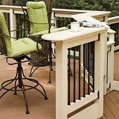 DIY deck rails, PVC or conduit