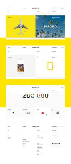 Webdesign for Solncetur travel agency