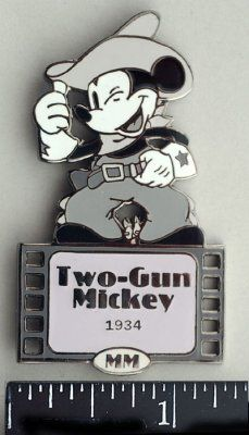 Mickey Mouse in 1934's Two Gun Mickey pin from Fantasies Come True