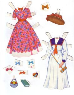 Hayley Mills paper doll clothes from Summer Magic