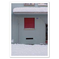 Fotokarte »Neubau im Schnee« http://www.dickoepfig.tictail.com/ #schnee #winter #snow