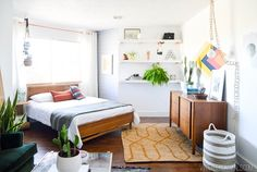 Upcycled and DIYed Bedroom Makeover Ideas
