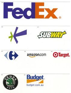 the world�s most famous logos organized by visual theme