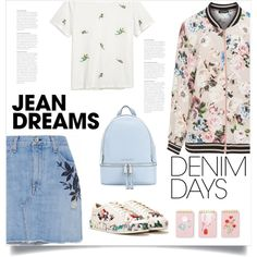 Jean Dreams: Denim Skirts by bliznec on Polyvore featuring polyvore, fashion, style, H&M, Verpass, rag & bone/JEAN, Nasty Gal, MICHAEL Michael Kors, Kate Spade and clothing